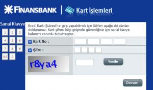 Finansbank kredi karti subesi