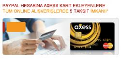 Paypall Axess Taksit Kampanyasi