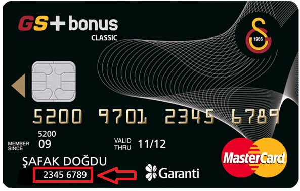 kredi kartında müşteri numarası nerede yazar