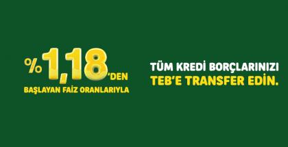 TEB Hosgeldin Faizli Borc Transfer Kredisi Kampanyas.