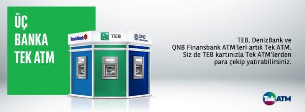 finansbank denizbank teb tek atm